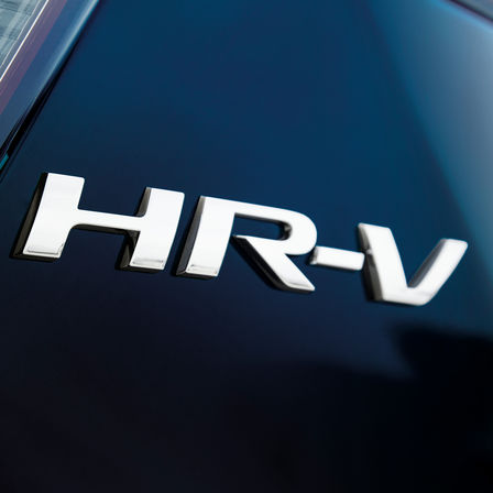 Honda HR-V logo close-up.